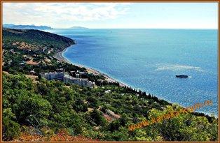 Общий вид курорта КАНАКА в Крыму.