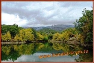 Горное озеро в районе Канаки.