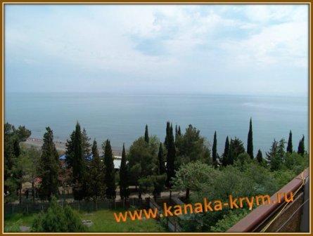 Пансионат Канака.Вид с балкона номера на море.