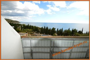 Вид с балкона номера по варианту № 8 пансионата Канака.